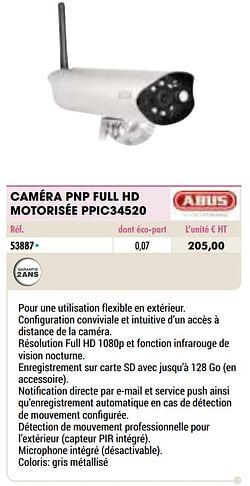 Abus caméra pnp full hd motorisée ppic34520