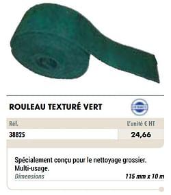 Rouleau texturé vert