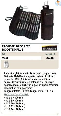 Trousse 10 forets booster-plus