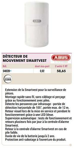 Abus détecteur de mouvement smartvest