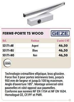Ferme-porte ts wood