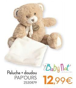 Peluche + doudou pap`ours