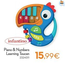 Piano + numbers learning toucan