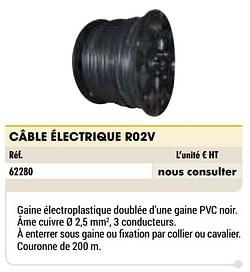 Câble électrique r02v