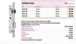 Serrure 2260