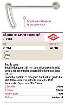 Béquille accessibilité j-rox
