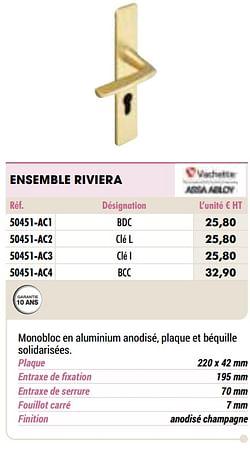 Ensemble riviera
