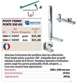 Pivot fermeporte 200 kg