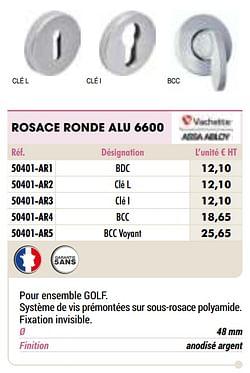 Rosace ronde alu 6600