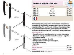Coquille double pour baie