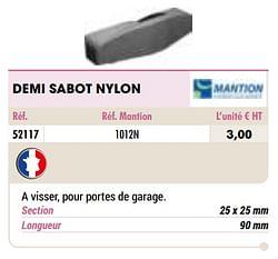 Demi sabot nylon