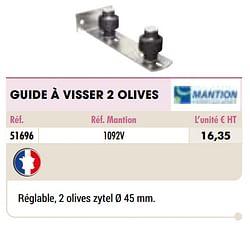 Guide à visser 2 olives
