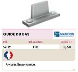 Guide du bas