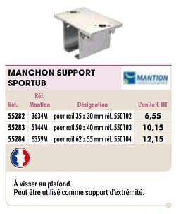 Manchon support sportub