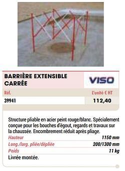 Barrière extensible carrée