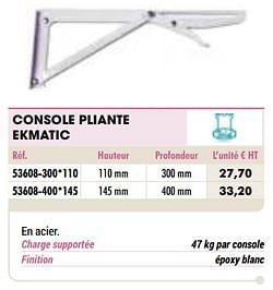 Console pliante ekmatic