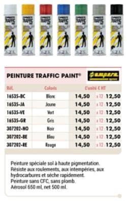 Peinture traffic paint