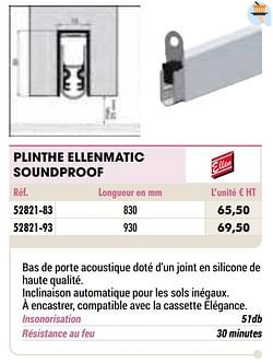Plinthe ellenmatic soundproof