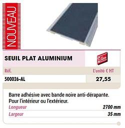 Seuil plat aluminium
