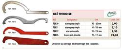 Clé tricoise acier epoxy simple