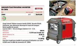 Honda groupe électrogène inverter eu 30is
