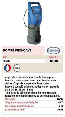 Pompe vide-cave
