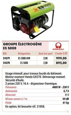 Pramac groupe électrogène es 5000