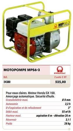 Pramac motopompe mp56-3