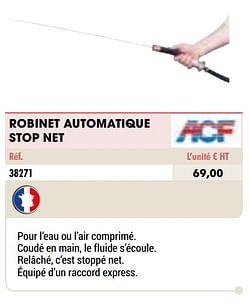 Robinet automatique stop net