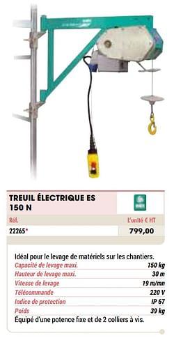 Treuil électrique es 150 n