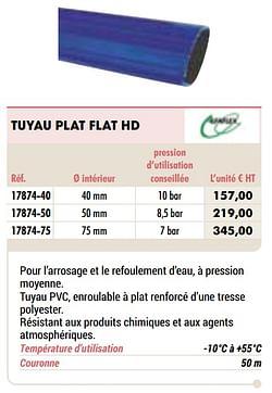 Tuyau plat flat hd