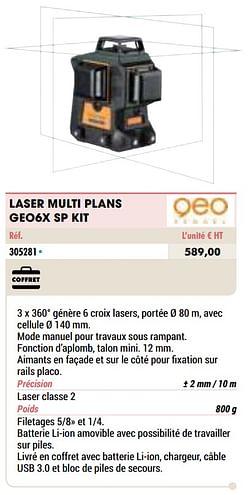 Geo fennel laser multi plans geo6x sp kit
