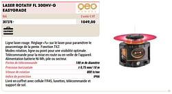 Geo fennel laser rotatif fl 300hv-g easygrade