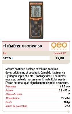 Geo fennel télémètre geodist 50