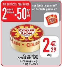 Camembert coeur de lion-Coeur de Lion