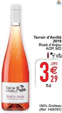 Terroir d`avrillé 2019 rosé d`anjou aop md-Rosé wijnen