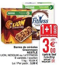 Barres de céréales graanrepen nestlé lion nesquik ou - of fitness-Nestlé