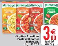Kit pâtes 3 portions pastakit 3 porties miracoli-Miracoli