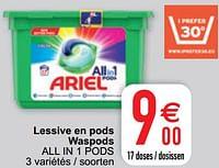 Lessive en pods waspods all in 1 pods-Ariel