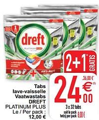 Tabs lave-vaisselle vaatwastabs dreft platinum plus-Dreft