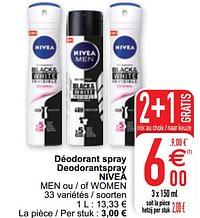 Déodorant spray deodorantspray nivea men ou - of women-Nivea