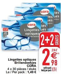 Lingettes optiques brillendoekjes cora-Huismerk - Cora