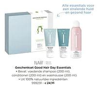 Geschenkset good hair day essentials-Naif