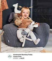 Kinderzetel beanbag teddy cream grey-Jollein