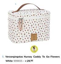 Verzorgingstas nursey caddy to go flowers white-Lassig