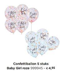 Confettiballon baby girl roze-Huismerk - Dreambaby