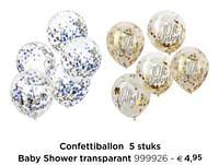 Confettiballon baby shower transparant-Huismerk - Dreambaby