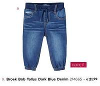Broek bob tollys dark blue denim-Name-IT