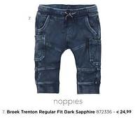 Broek trenton regular fit dark sapphire-Noppies