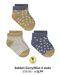 Sokken curry-blue-Lassig